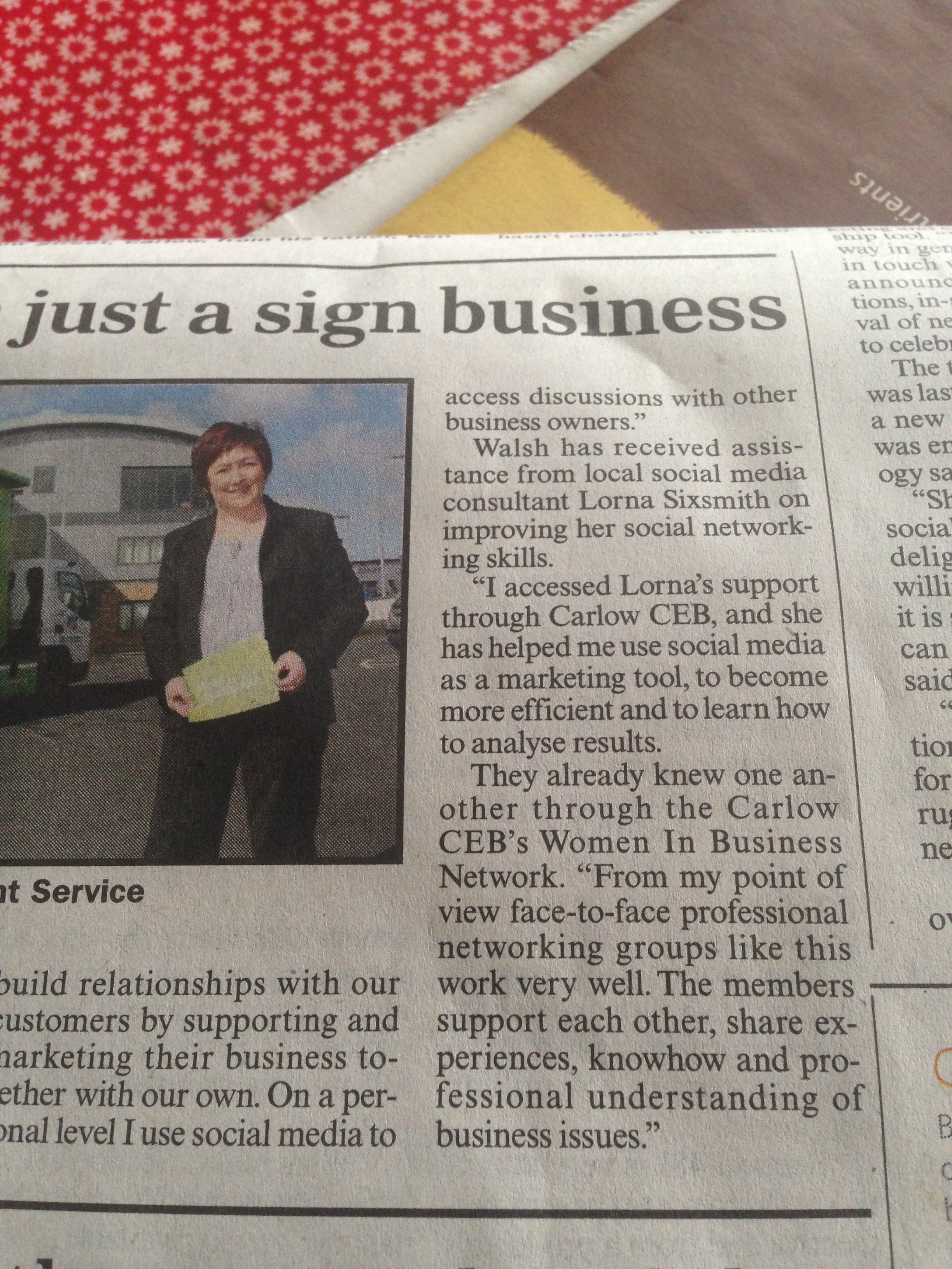 Write on Track mentioned in Sunday Business Post