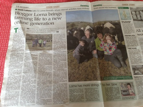 irish Farmerette in the Irish Examiner