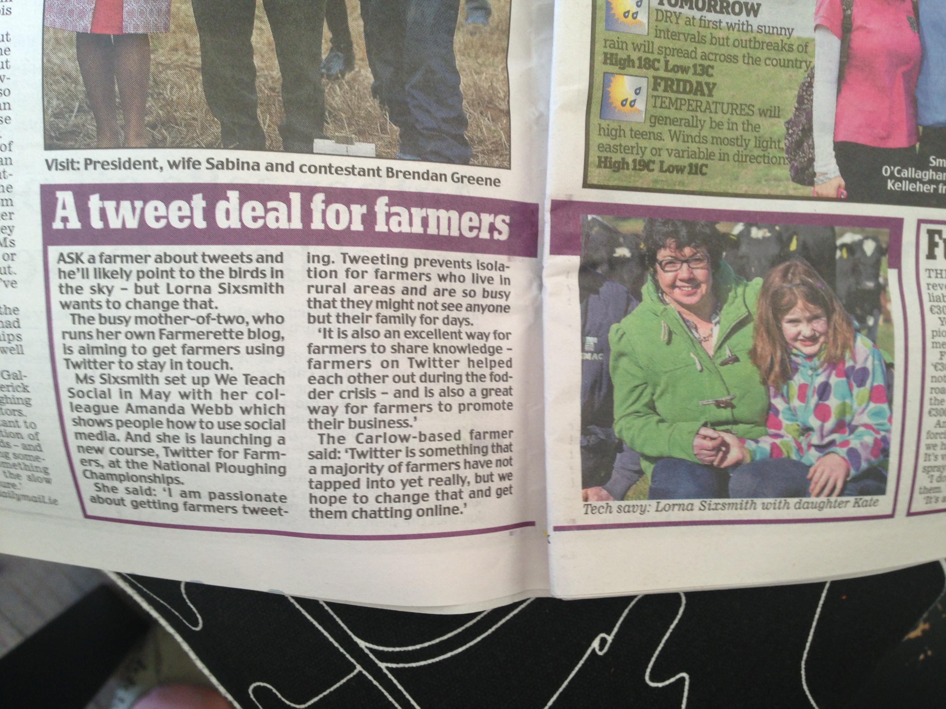 Tweeting Farmers in the Daily Mail