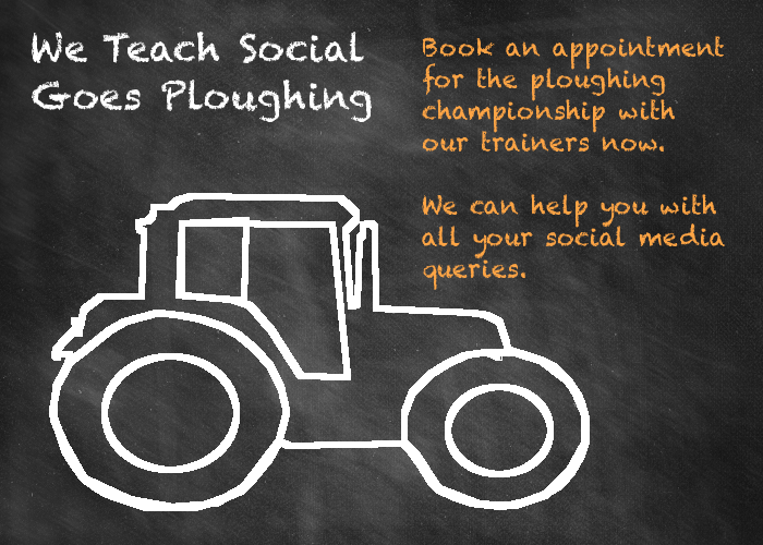 We Teach Social goes ploughing