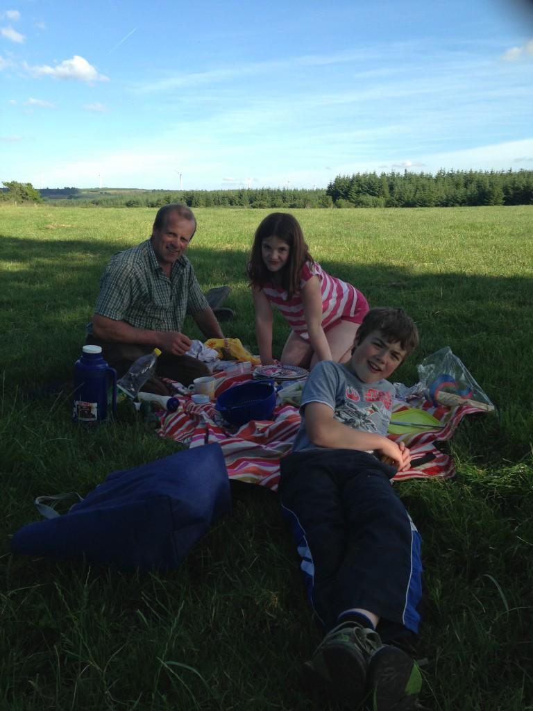 A farm picnic