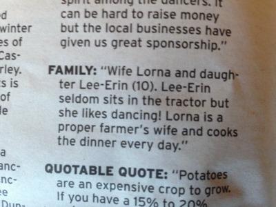 Proper farmers wife