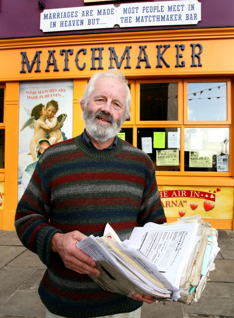 Willie Daly with his matchmaking ledger