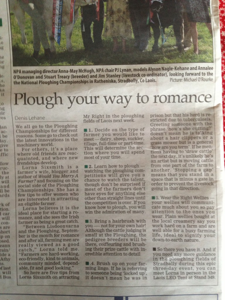 Plough Your Way To Romance