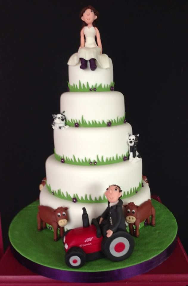 Farmer Wedding Cake