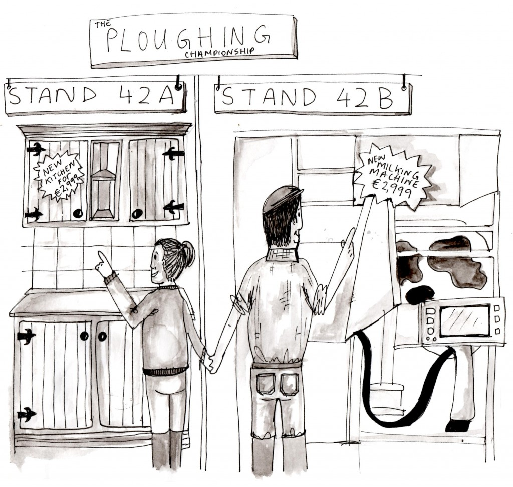 Shopping at the Ploughing Championship: New Kitchen or New Milking Parlour
