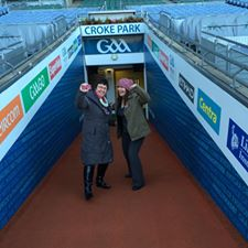 Through the tunnel at Croke Park
