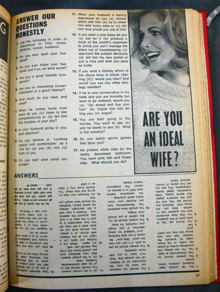 Woman's Choice magazine 1968