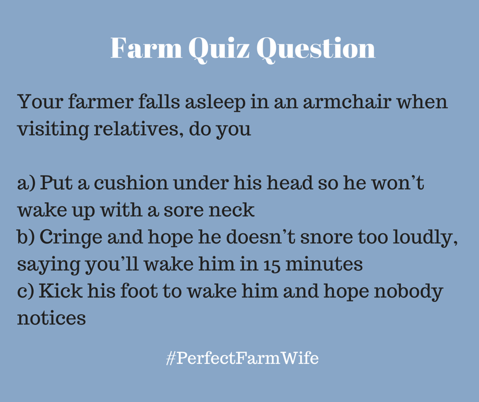 Farm quiz question