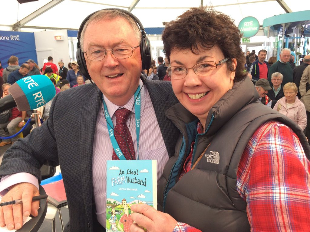 Lorna with Sean O'Rourke
