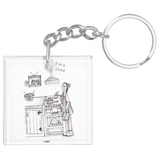 Perfect Farm Wife Keyring Double-Sided Square Acrylic Key Ring