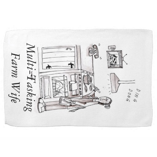 The Busy Farm Wife Kitchen Towel