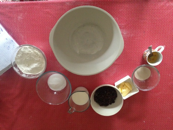 Ingredients for Barm Brack