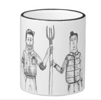 Mr and Mr Farmers Mug