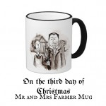 "On the third day of Christmas, win a ""Mr and Mrs Farmer"" Mug"