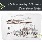 Win a 'Farm Picnic' Kitchen Towel on the second day of Christmas