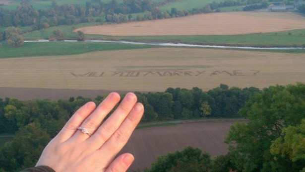 Marriage proposal in Scotland