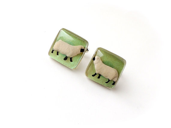Sheep Cufflinks - one of ten suggestions for gifts for farmers