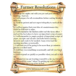 Farmer New Year Resolutions