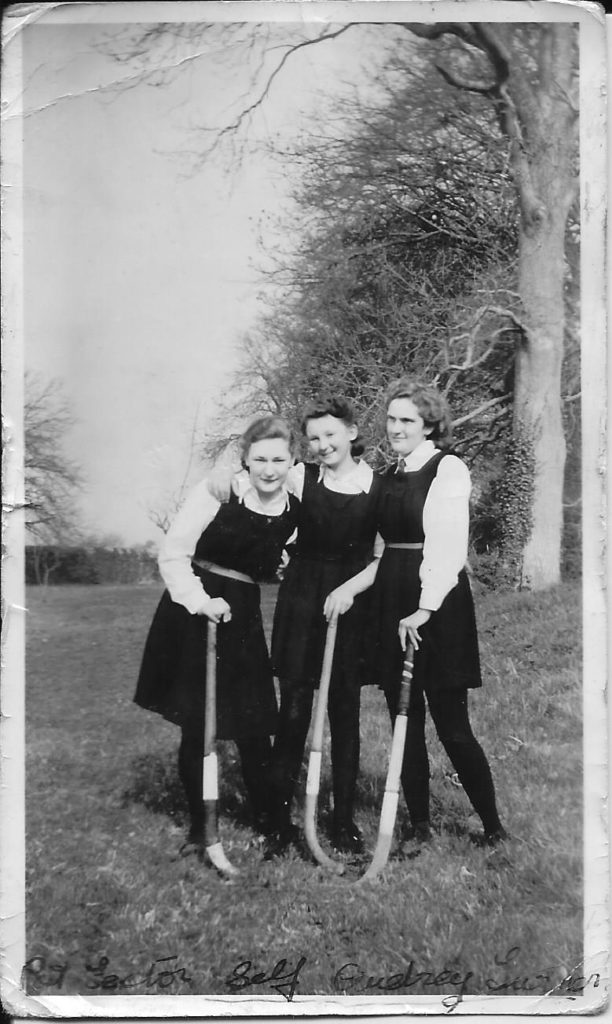 Playing hockey in 1946