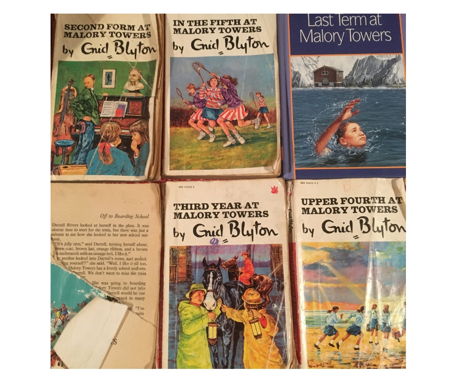 My much loved copies of Malory Towers